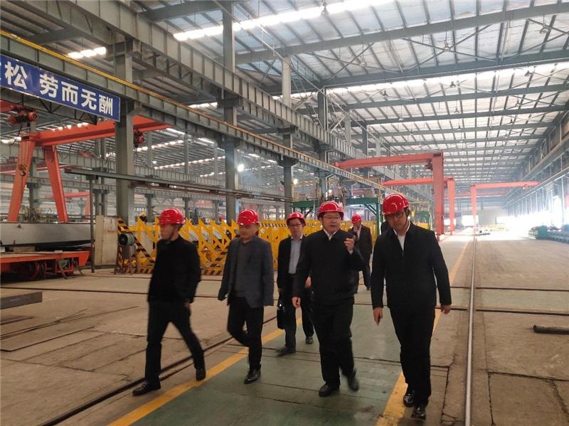 中国建筑金属结构协会钢结构分会常务副会长胡育科一行到川威集团龙泉基地考